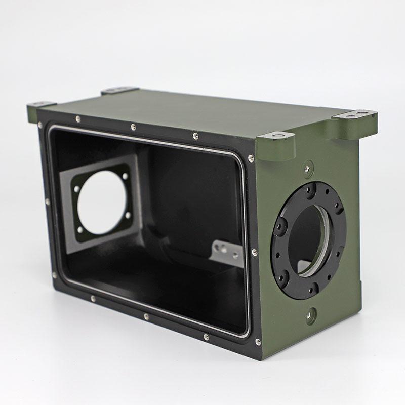 CNC machined aluminum parts CNC casting parts for optics camera housing