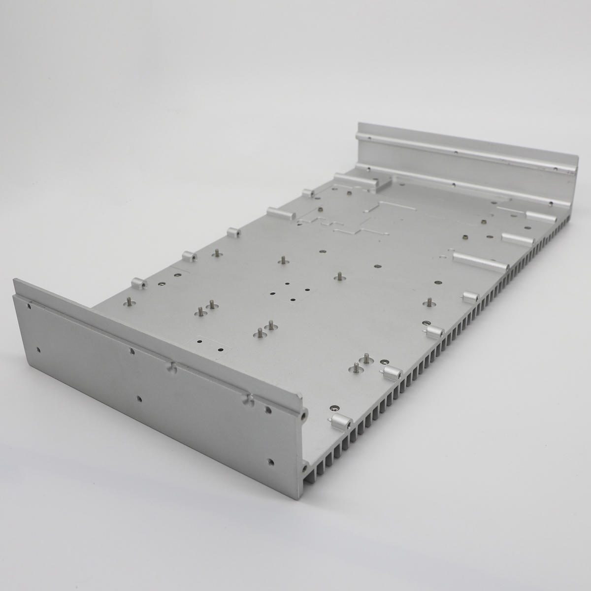 Custom CNC machining aluminum heat sink extrusion for railway train wifi router