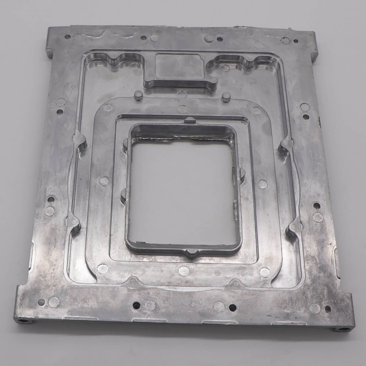 Aluminum CNC Machining parts for Agriculture measuring system front plate-4