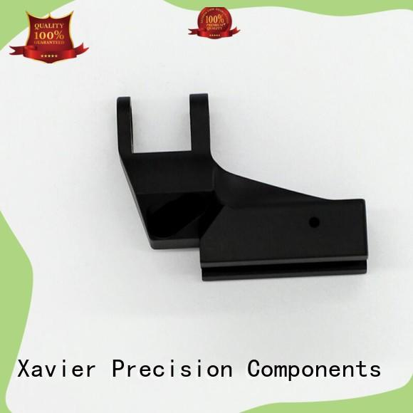 Xavier top-quality aluminum machining part black anodized at discount