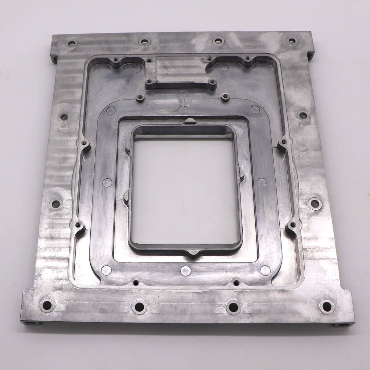 Aluminum CNC Machining parts for Agriculture measuring system front plate-2