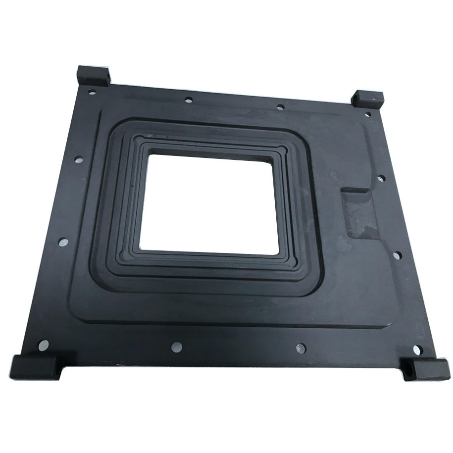 Aluminum CNC Machining parts for Agriculture measuring system front plate-3