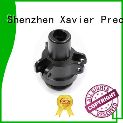 Xavier sub-assembly machined parts black anodized