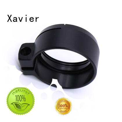 Xavier secondary processing cnc machining services black anodized