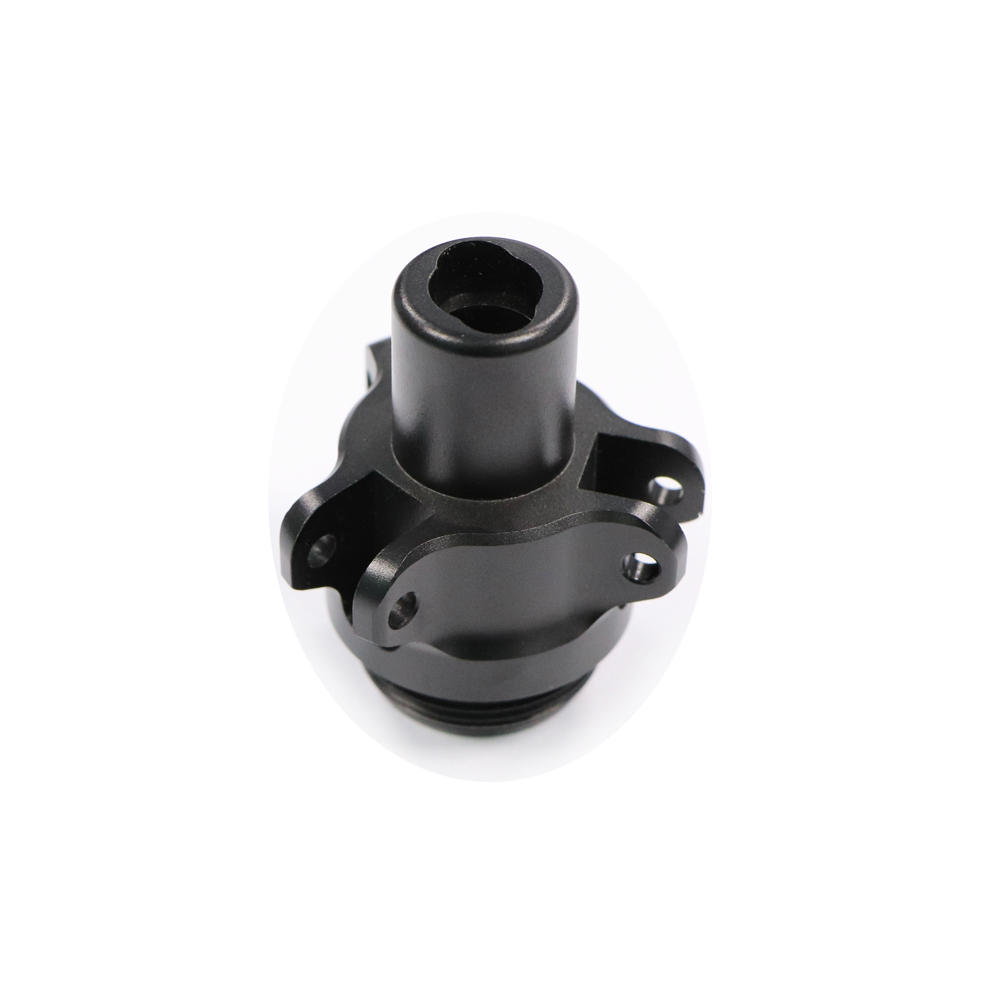 Aluminum Black Tripod Parts CNC Machined