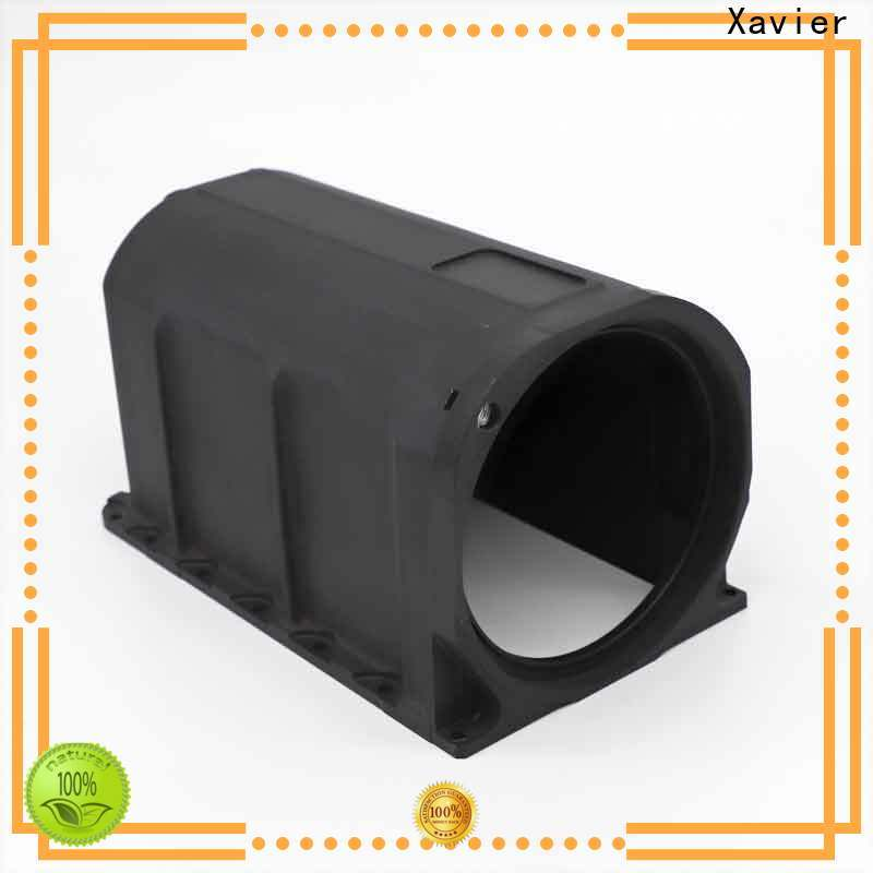 Xavier secondary processing aluminum machining part black anodized for night vision