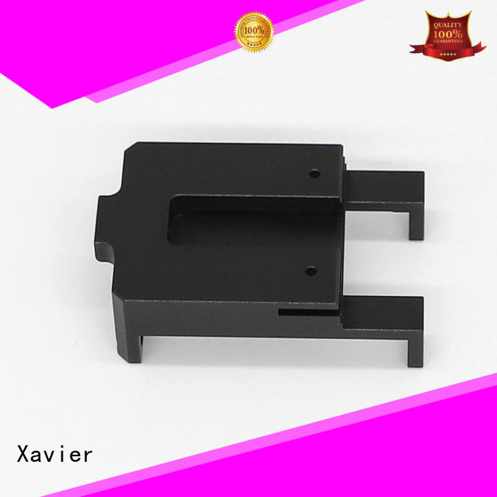 Xavier secondary processing machined parts black anodized for night vision