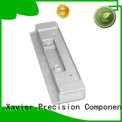 Xavier high-precision aluminum machining part black anodized