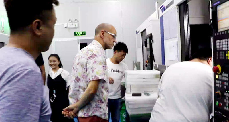 Our VIP Customer were visiting to our CNC MILLING WORKSHOP
